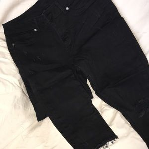 Maurice's black like new denim jeans